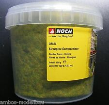 (7,16€/100g) NOCH 08151 Streugras Sommerwiese, 2,5 mm lang, 120g Dose, Neu