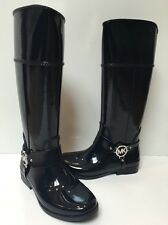Women's Michael Kors Fulton Harness Tall Rain Boots NAVY Rubber Size 9 NWOB NEW