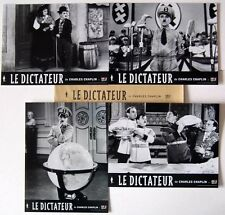 LE DICTATEUR/THE GREAT DICTATOR - C.Chaplin - JEU 4 PHOTOS / 4 FRENCH LC RR