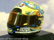 SUPERB MINICHAMPS 1/8 AGV RACE HELMET VALENTINO ROSSI #46 GP 250 1999 397990046