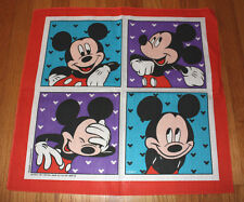 free shipping additional bandanas * NOS vtg MICKEY MOUSE bandana * handkerchief