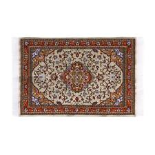 Miniature Turkish Carpet Rug for Doll House Living Room Decor 9.5 x 5.9 inch