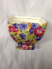 ROYAL WINTON ROYALTY ASCOT OPEN SUGAR BOWL FLORALS CHINTZ YELLOW BACKGROUND