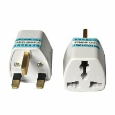 1x Portable US AU EU Europe to UK Power Socket Plug Adapter Travel Converter C1