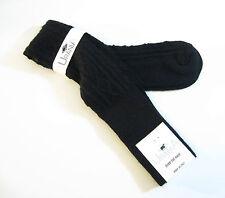 Urania Italy Ladies OVER Knee Socks Angora Blend Diamond Rib Black - NEW