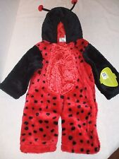 "Plush Petables ""LADY BUG"" baby costume with hood 1-2 years - NWT"
