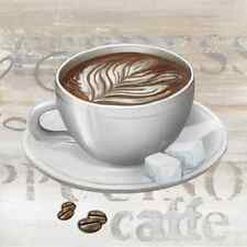 20 Paper Napkins COFFEE TIME Decoration DECOUPAGE Cappuccino Espresso 33x33cm