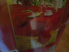 Home Wear Dinner Party Noel Tablecloth Oblong  6 Six Napkins Christmas New Red
