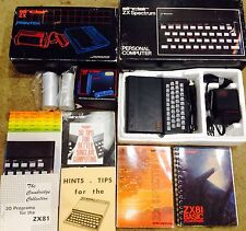 RARE VINTAGE SINCLAIR ZX SPECTRUM 48K COMPUTER/ZX81/PRINTER/16K RAM/manuals Box