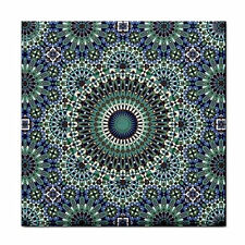 Moroccan Print Unframed Ceramic Tile / BBQ Decor / Feature Wall Tile / Plaque