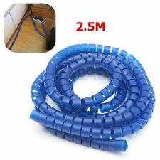 2.5M Flexible Spiral PC TV Cable Cord Power Wire Management Organizer Wrap Clip