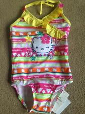 BNWT M&S Hello Kitty Halterneck Swimming Costume Swimsuit 2-3 Years