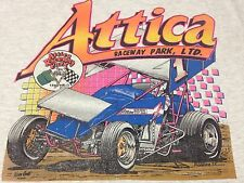 Vintage Attica Raceway Park Ltd T-shirt Dirt Track Sprint Car Racing Drifter