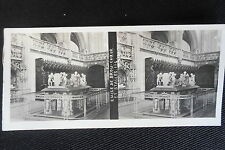PHOTO STEREOSCOPIQUE EGLISE DE BROU COEUR ET STALLES 1905