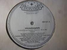"""Polydor Informationsplatte 004 521, Inge BRANDENBURG, Alexander Bernstein LP 12"""""""