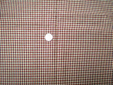 Brown-Rust-Cream Check Bottomweight Fabric