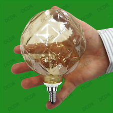 28W Dimmable Halogen G95 large Amber Decor Globe Light Bulb SES E14 Small Edison