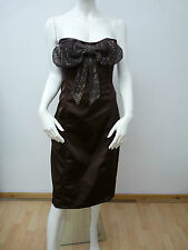 PINK & LILLY SEXY STRAPLESS BROWN KNEE LENGTH CORSET DRESS  UK 14   BNNT