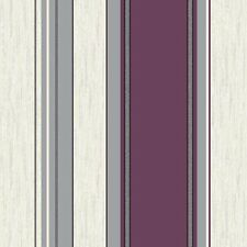 Vymura Synergy Striped Designer Feature Wallpaper Purple / White / Silver