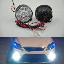 2X 9-LED Car Fog Lamp Round Driving Running Daytime Light Head Light White op