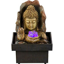 Kheops International - Water Fountain Buddha with Hand & Small Light