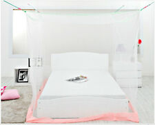 4 (Four) Corner Post Bed White Canopy Mosquito Insect Queen King Size Net