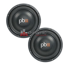 "Two (2) PowerBass S-1004 Car Audio 10"" Single 4-Ohm S-Series Subwoofers Sub New"