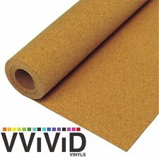 "Cork Vinyl Textured Film Architectural Underlay Contact Paper Roll 17.8"" x 25ft"