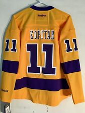 Reebok Women's Premier NHL Jersey Los Angeles Kings Anze Kopitar Yellow sz S