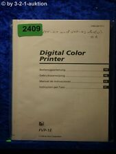 Sony Bedienungsanleitung FVP 1E Digital Color Printer (#2409)