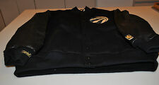 NBA Black Gold Toronto Raptors Basketball Varsity Leather Jacket XL LE #/74