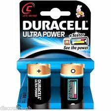 Duracell Ultra Power Alkaline MX1400 1.5v LR14 C size battery - pack of 2