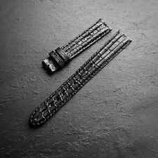 OMEGA RRP £390 Ridged Crocodile Alligator 52 Swiss Watch Strap 14mm NOS Leather