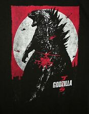 Retro Godzilla Japanese King Monster Toho T-Shirt New Tags Sz LG 2014 Movie