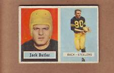 NICE 1957 Topps #15 Jack Butler ROOKIE CARD - Pittsburgh Steelers Hall of Fame