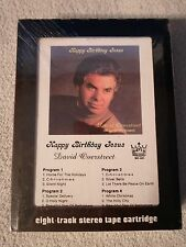 New ! David Overstreet *Happy Birthday Jesus* Eight 8 Track Cassette Tape MD-601
