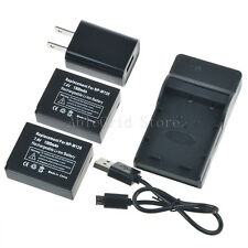 2x NP-W126 Battery + Charger for Fujifilm NP-W126 Fuji FinePix HS30EXR HS33EXR