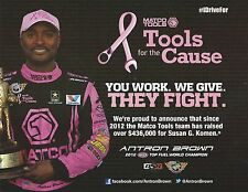 ANTRON BROWN 2014☞#2 Pink MATCO TOOLS NHRA Drag Racing Top Fuel Dragster HANDOUT