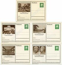 GERMANY STATIONERY SPECIMEN PERFIN 1959-61...5 Cards..illustrated