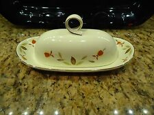 Hall Autumn Leaf Jewel Tea RINGS BUTTER Dish Tray Quarter Pound