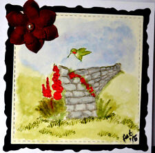 Stone Wall  U get photo #2 RETIRED L@@K@examples ART IMPRESSIONS RUBBER STAMPS