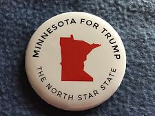 DONALD TRUMP OFFICIAL MINNESOTA - THE NORTH STAR STATE CAMPAIGN PIN BACK BUTTON