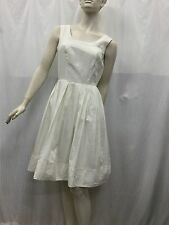Fiona Andrews Fits 10 Silk Cream White Peticoat Tulle Sleeveless Pleated Dress