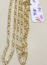 SOLID 18K Saudi Gold Chain Necklace - 16 inches - 1.6g
