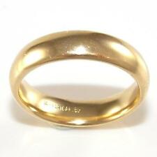 Solid 14K Yellow Gold Plain Mens Wedding 6mm Band Ring Size 9.5 QR1