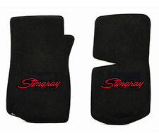 NEW! floor mats 1968-1982 C3 Corvette With Embroidered Stingray Logo in Red