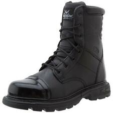 Thorogood 9386 Mens Trooper Black Leather Combat Boots Shoes 13 Wide (E) BHFO