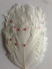 Curly Goose Feather Pad for Headbands Fascinators Costumes Hat Handmake Crafts