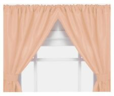 Vinyl Bathroom Window Curtain. 2 Panels with Tie Backs: 5-Guage Peach