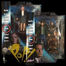"The X-FILES Select 2016 Fox MULDER Dana SCULLY 7"" Action Figure SET Diamond Toys"